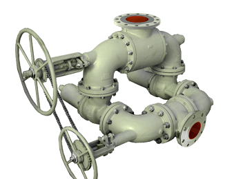 Safety valve block